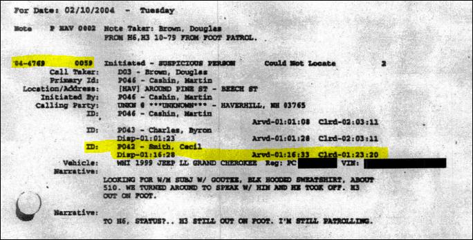 cecil smith dispatch log 2