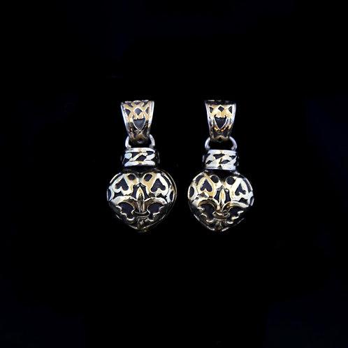 John Hardy Heart Earrings