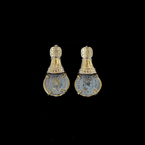 Dark Coin Drop Earrings