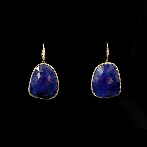 Medium Tanzanite Earrings