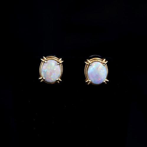 14K Opal Earrings