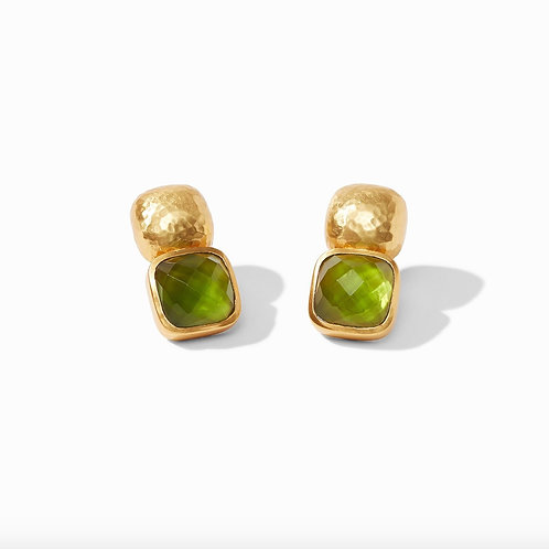 Catalina Gold Jade Earrings