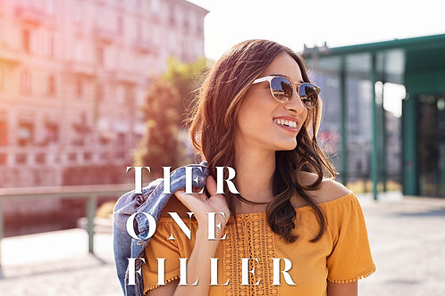 Tier One Fillers (Juvederm or Restylane)