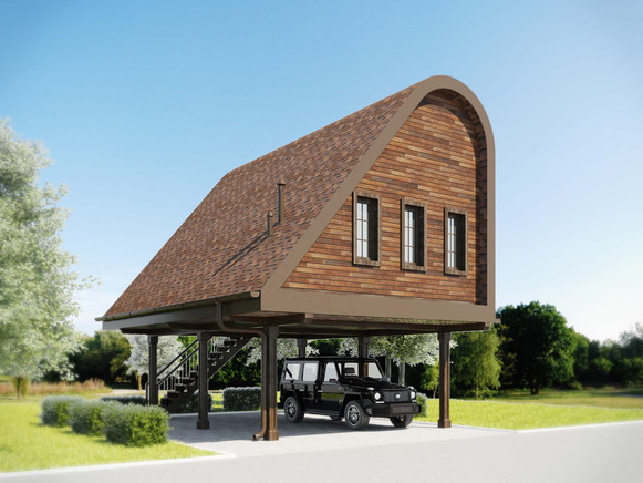 проект дома на опорах STAFF HOUSE
