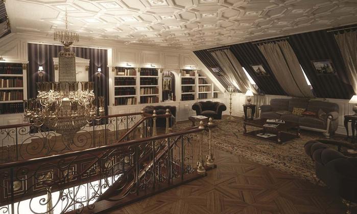 Дизайн-проект интерьеров дома в английском стиле