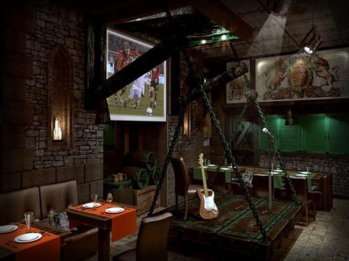 Дизайн-проект пивного ресторана «Бамберг»