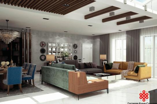 Дизайн-проект частного дома Green Rock