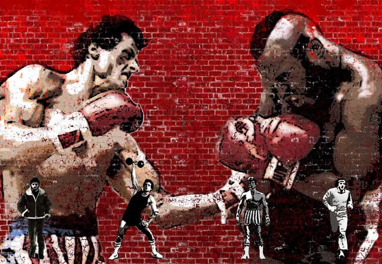 Дизайн-проект второго зала Rocky boxing club