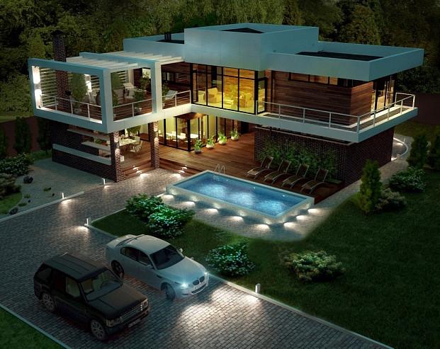 Проект частного дома RIVERHOUSE