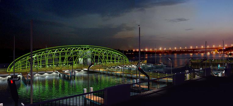 Проект-концепция яхт-клуба на городской набережной