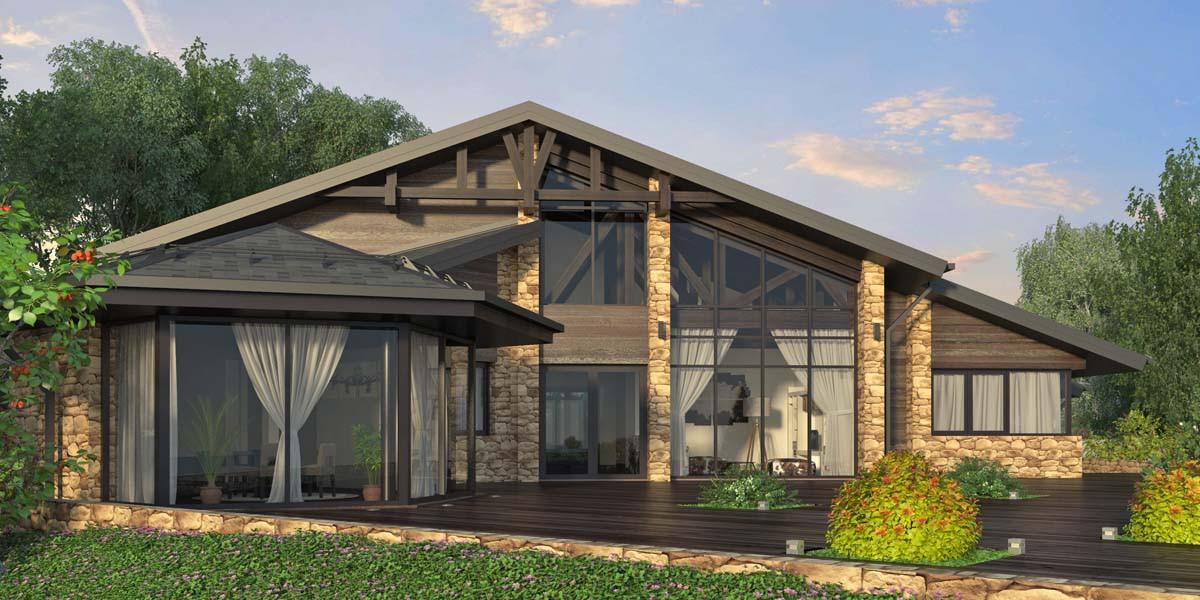 Проект частного дома Don bend