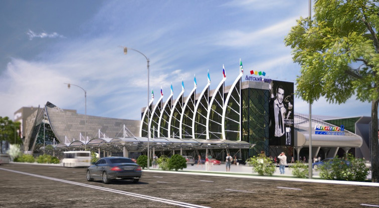 Проект реконструкции парадной въездной группы ТЦ «Горизонт»
