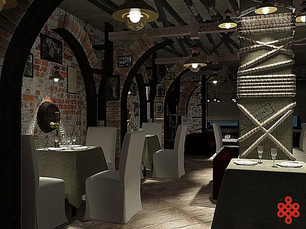 Дизайн-проект ресторана «Самогон»