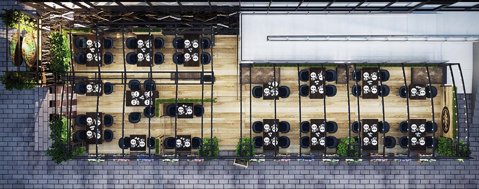 Проект летней террасы «Пинты»