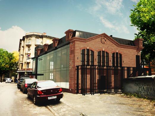 Проект двухэтажного здания Brickborder