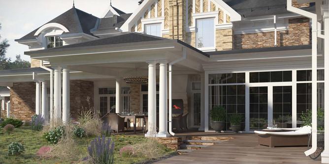 проект частного дома california dreams