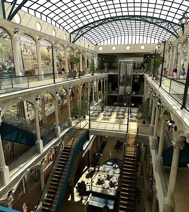 Дизайн-проект торгового центра «Галеон»