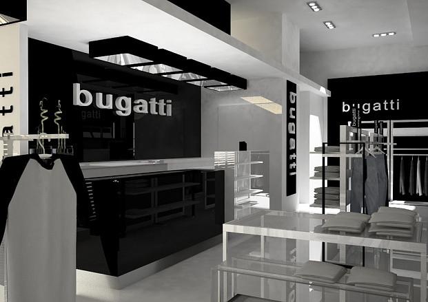 Дизайн-проект салона Bugatti