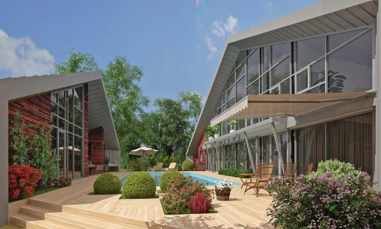 Проект частного дома Pyramid.АБ Новая РАСА