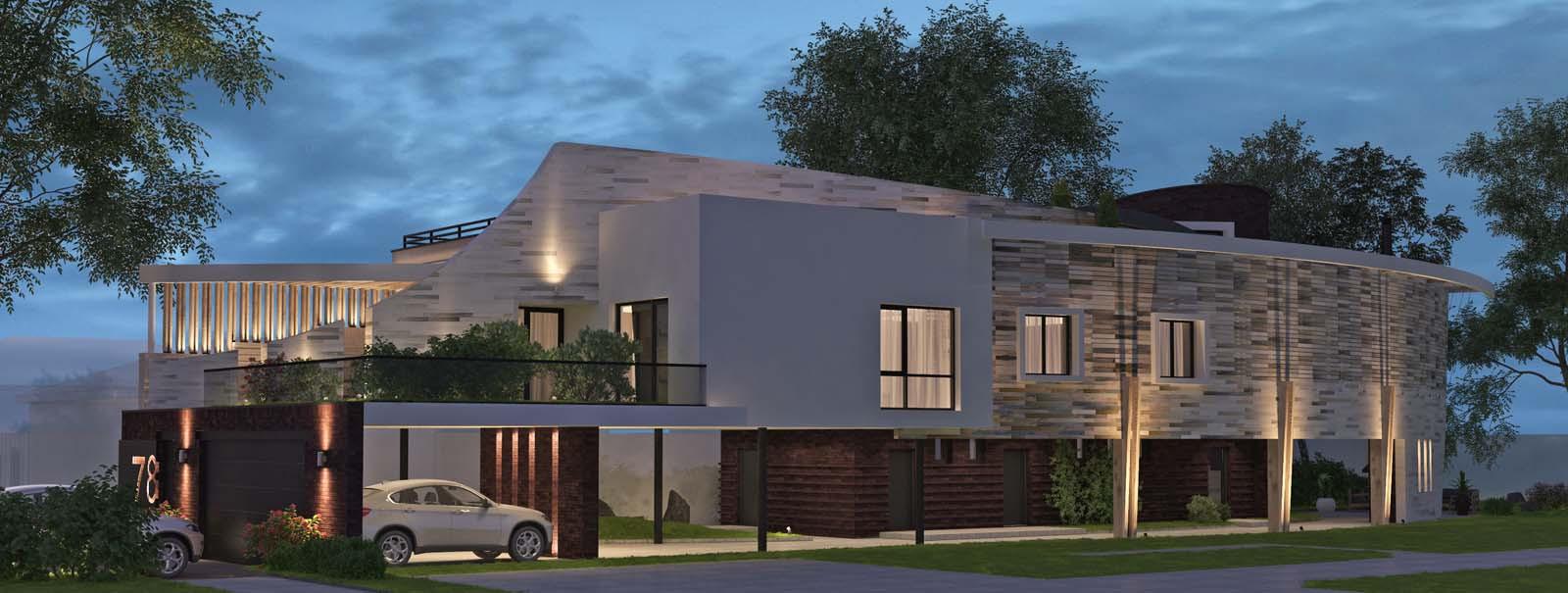 проект частного дома DECKS