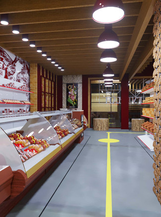 Дизайн-проект интерьеров торгово-офисного центра «Лимон»