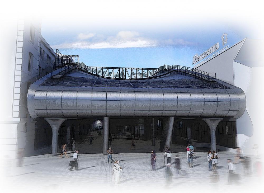 Проект переходной торговой галереи в ТЦ «Горизонт»