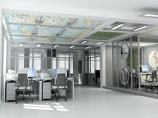 Дизайн-проект офиса туристической компании