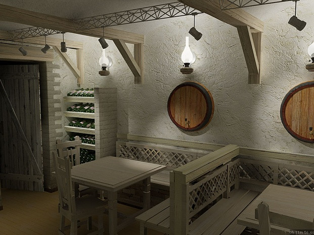 Дизайн-проект интерьера Bell cafe