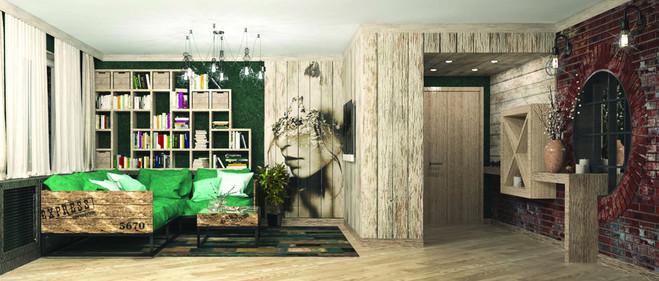 Дизайн-проект квартиры для друзей Manhattan loft