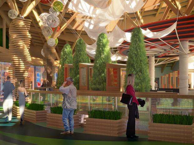 Дизайн-проект переходной торговой галереи в ТЦ «Горизонт»