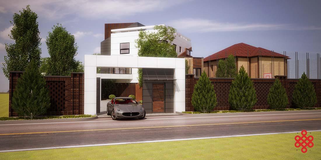Проект частного дома ice cube