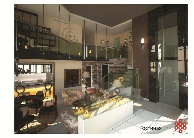 Дизайн-проект интерьеров пентхауса