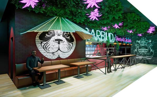 дизайн-проект интерьера бара BARBUDA