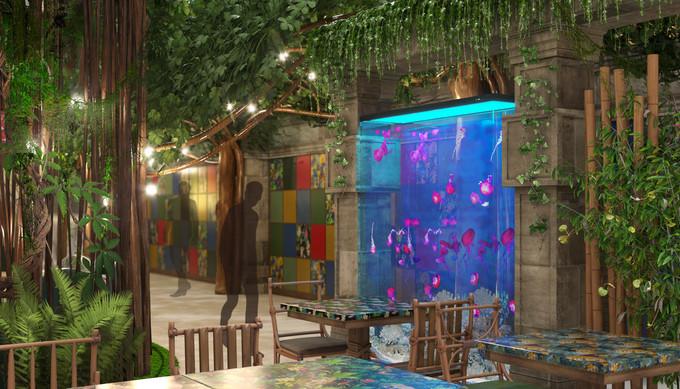 дизайн-проект интерьера детского кафе БАЛУ