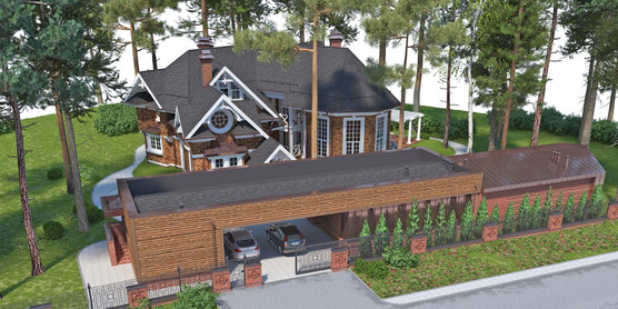 Проект частного дома Tree-and-wood