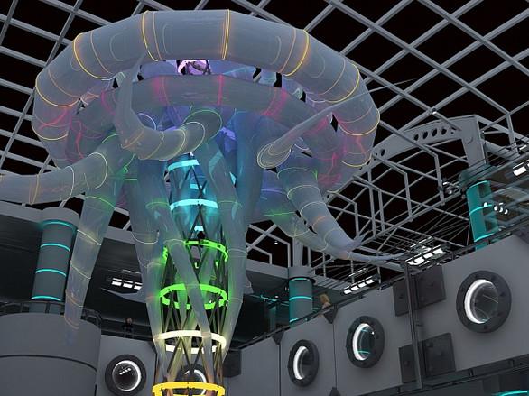 Дизайн-проект торговой галереи в аквапарке ТЦ «Горизонт»