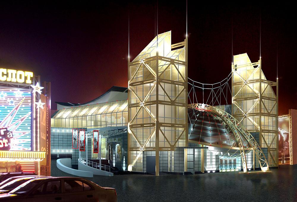 Проект ледового катка в ТЦ Горизонт