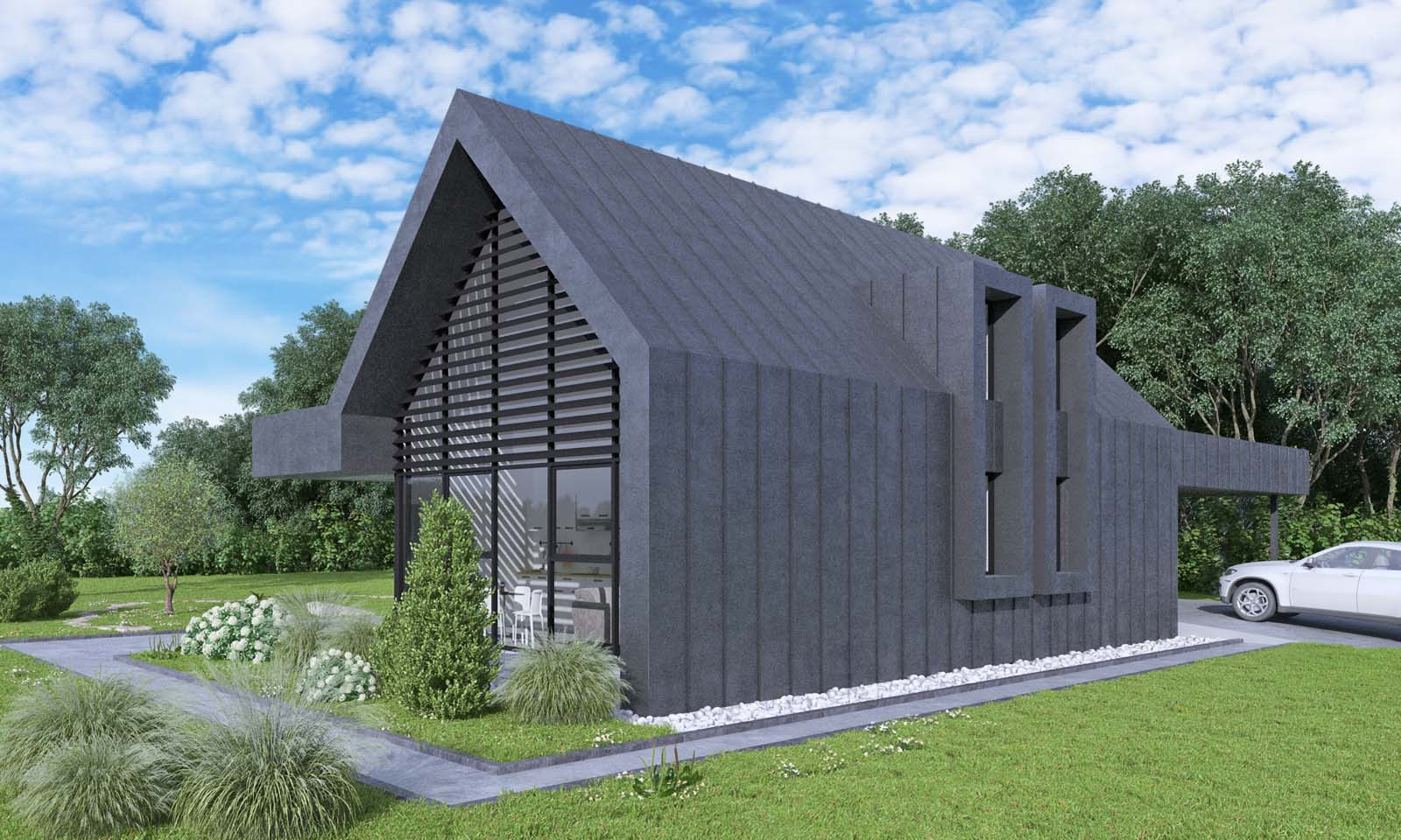 проект частного дома 100+