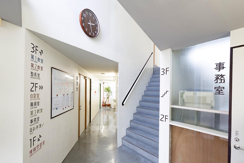 美山進学塾玄関