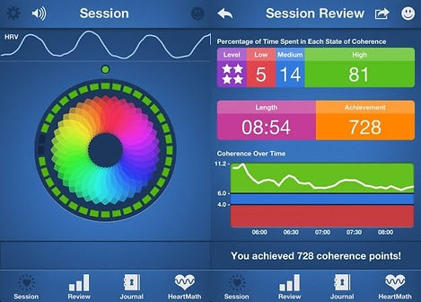 Heartmath Screen, Coherence, build resiliance, HRV, Heart Rate Variability