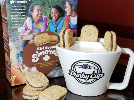 Girl Scout Cookies and Milk