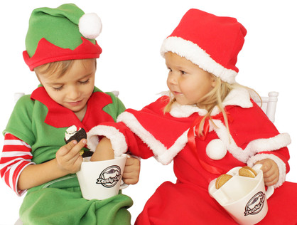 Miss Claus Steals Elf's Cookies and Milk