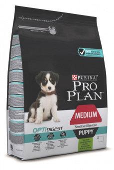 Корм для собак ПРО ПЛАН для щенков средних пород с чувствительным пищеварением