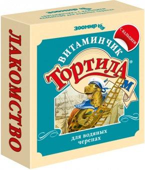 Корм для черепах Тортила М Витаминчик для водяных черепах с кальцием