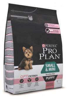 Корм для собак ПРО ПЛАН для щенков мелких и карликовых пород с чувств. кожей