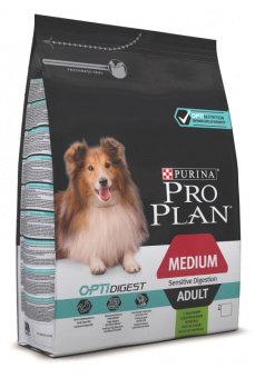 Корм для собак ПРО ПЛАН для взрослых собак средних пород