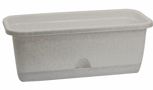 Балконный ящик ЛАМЕЛА 40см мрамор М3220