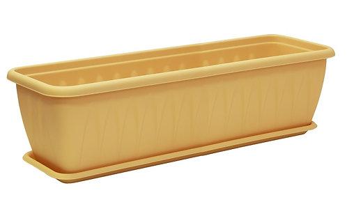 Балконный ящик АЛИЦИЯ 60см белая глина М3215