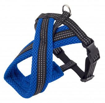 Шлейка нейлон 15мм Премиум Х-образная с мягкой подклад синия обхв.груди 34-45см