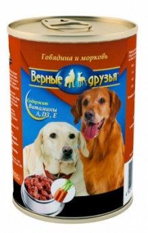 Корм для собак Верные друзья 415гр СОУС говядина/морковь